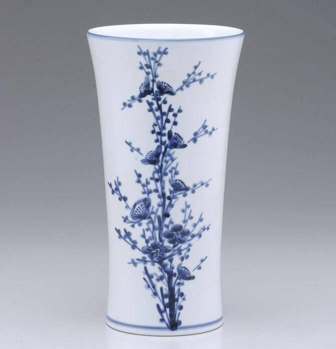 近藤 濶・梅染付花瓶